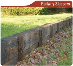 railway-sleepers.png (326×296) I will be using these in my yard soon!!