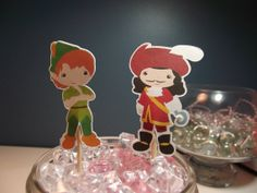Peter Pan Cupcake Toppers  12  Birthday Party by TheLoveofPaper5, $3.50