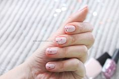 Pastel Pink Nails, Pretty Nails, My Nails, Valentines Day, Sequins, Ideas, Valentine's Day Diy, Cute Nails, Belle Nails