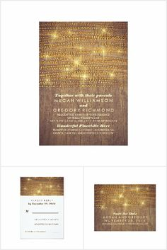 Rustic Country Gold Glitter Wedding Collection