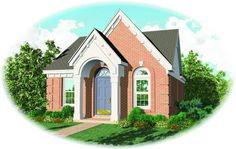 House Plan 053-00087 - French Country Plan: 1,148 Square Feet, 3 Bedrooms, 2 Bathrooms