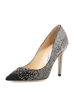 Jimmy Choo Tania Crystal Degrade Pump, Black  You can't look away from these fully embellished Jimmy Choo pumps. Sparkling two-tone crystals create a degrade effect from heel to toe, and cast light-catching shimmer wherever you go.