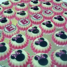 Mini gelatinas. Minnie mouse.