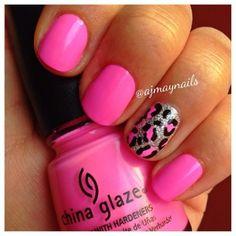 Girlie Pink Animal Print Nails - Cult Cosmetics Magazine