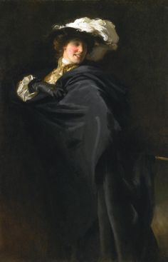 John Singer Sargent 'Portrait of Ena Wertheimer: A Vele Gonfie', 1905