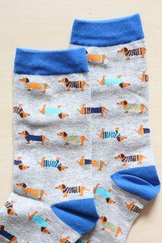 Dachshund Dogs Print Socks - Grey – Shalex