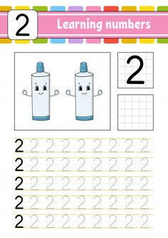 Trace And Write. Learning Numbers For Kids. Trace and write. Preschool Writing, Preschool Letters, Preschool Curriculum, Toddler Learning Activities, Math Activities, Handwriting Practice, Handwriting Worksheets, Learning English For Kids, Numbers For Kids