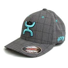 watch 0a052 d2782 Cactus Ropes by HOOey Dark Grey Plaid Flexfit Hat CR003 Western Hats,  Cowgirl Hats,