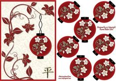 3D Japanese Lantern Embellishment and Card Front on Craftsuprint designed by Karen Adair - This new design features a card front and the elements to make a 3D embellishment. The elements all fold in half and are glued together. When opened out flat, you have a gorgeous embellishment, (much like the old fashioned Christmas decorations I used to have as a child), to place on your card. These are really easy to make, but the result is wonderful. If you are making these to send out to friends…