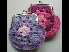 crochet : how to crochet purse