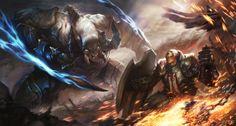 Diablo3 Fan art _ Crusader VS Monster by Hanspark.deviantart.com on @deviantART