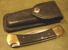 Buck 110 USA 1971-73 3Pin No Dot Lock Back Hunter Knife