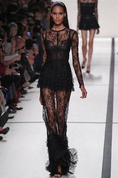 Кружевное черное прозрачное платье