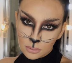 Afbeeldingsresultaat voor schmink cat #facepainttutorial