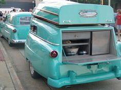 Manufactured in Medford, OR in the early 50′s there is believed to be only 16 of these trailers ever built and reportedly only 6 are left today. Designed in the same style as the 53/54 Fords, the most unique feature is the fully functional, removable 16′ fishing boat which doubles as the trailers roof when not in use! Although these trailers were reproduced for a short time this is an authentic, real Kom-Pak travel trailer from the 1950′s.