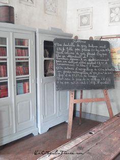Le tableau de calculs de l'ecole de Montol Senard