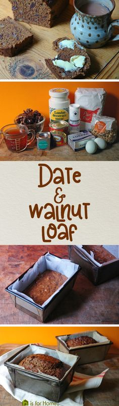 Home-made date and walnut loaf | H is for Home #recipe
