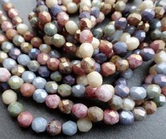 6mm Fire Polished Luster Mix by BeadSoupBeads on Etsy,