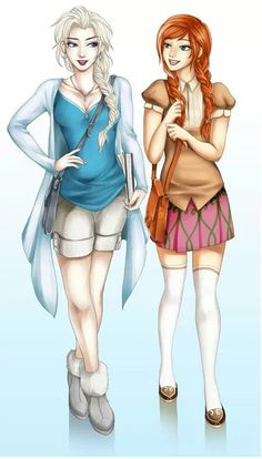 Modern Anna and Elsa.