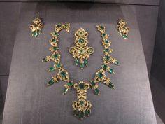 Emerald parure, Rosenborg Castle, Copenhagen via Danish Crown Jewels
