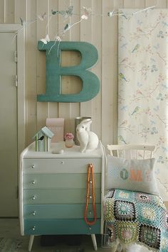 The ombre effect on this dresser breathes new life into an old piece.