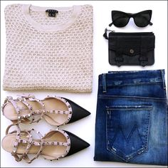 + Theory sweater | Elizabeth and James sunglasses | Proenza Schouler case | Valentino heels | Mother...