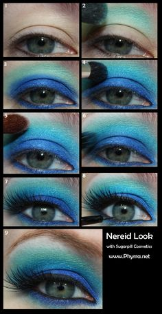 Sugarpill Nereid Tutorial. Click through to see more! - Tropical Vacation Contest Ends 3/22/13