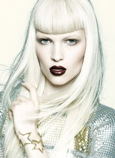 Chris Nicholls Creates a Futuristic Beauty Buzz #hair #makeup #beauty #white
