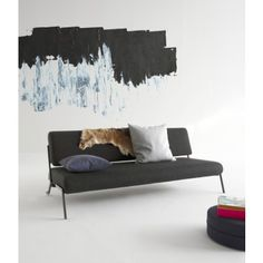 Innovation Slaapbank Debonair - Chroom - Twist Black 564 - Zwart
