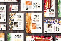 Resultado de imagen de watercolor packaging food