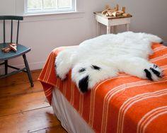 A big, fluffy polar bear real shearling.