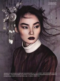 I would love this head piece...such beauty!! Miao Bin Si for Vogue China October 2011 1