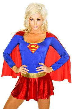 $22.39 FIYOTE Adult Sexy Cosplay Superwoman Costumes Halloween Supergirl Chemise Femme Costume #Sexy #Cosplay #Superwoman #Costumes #Halloween #Supergirl