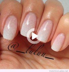 Glitter French Manicure, French Manicure Designs, Best Nail Art Designs, Glitter Nails, Black Glitter, Wedding Day Nails, Wedding Nails Design, Wedding Manicure, Glitter Wedding