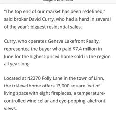 I'm a local paper sort of famous. A nice article on the top end on Geneva with some references to this guy, along with some cliches from other brokers. Link in bio. Lake Geneva > Everywhere Else #lakegeneva #wisco #realtorlife #luxuryrealestate #design #topagent #realtorlife #localrealtors - posted by Geneva Lakefront Realty https://www.instagram.com/genevalakefrontrealty - See more Real Estate photos from Local Realtors at https://LocalRealtors.com