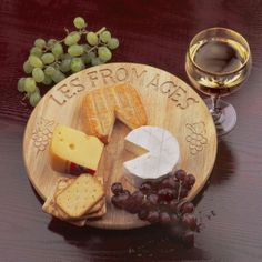 Love, love cheese boards- its a shame that the Brie looks like pacman though~ ;)