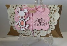 Easter pillow box. I think that cute bunny stamp is from Dandelion Designs.
