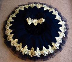 Black and gold ballet tutu.  Made by Sewn by Sara Ballet Tutus.