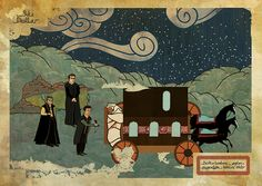 Reviving the art of Turkish miniatures. Pictured: Goodfellas, drawn by Murat Palta in the style of traditional Turkish miniatures.