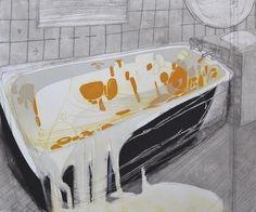 Katherine Jones - A Thaw | 2014 | collagraph and block-print on paper | 86.5 x 72 cm  More art? www.kirstenlovesart.com