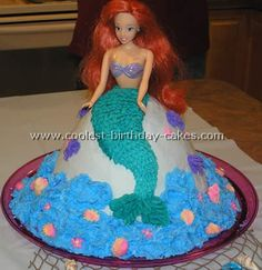 The Little Mermaid Cake Photo- @Lauren Vento- Lily wants this for her birthday cake.