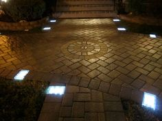 Have you ever wanted to add lighted LED pavers to your walks, patios, driveways and pool decks but got discouraged by the hassle of electrical installation? Now you can have a beautiful lighted walkway for both beauty and safety using the Solar Brick Pave Solar Driveway Lights, Driveway Lighting, Path Lights, Solar Lights, Solar Led, Outdoor Patio Pavers, Patio Stone, Backyard Landscaping, Outdoor Path Lighting