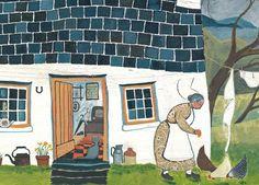 'Her Home' By Painter Valeriane Leblond.  Blank Art Cards By Green Pebble. www.greenpebble.co.uk