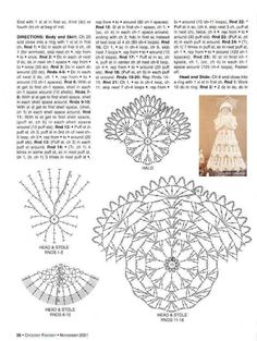 Knitting - Meeting: Crochet Christmas ornament - Crochet Treetop angel