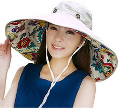 88d576bf033 iHomey Sun Protective UPF 50 Large Brim Floppy Foldable Roll up Beach Sun  Hat UPF 50 · Caps HatsWomen s HatsOutdoor ...
