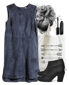 """""""Allison Inspired Outfit with a Suede Dress"""" by veterization ❤ liked on Polyvore featuring H&M, ASOS, Bobbi Brown Cosmetics and Journee Collection"""