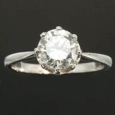 Vintage diamond engagement ring - simple and classic