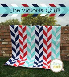 Victoria Quilt - Herringbone quilt pattern