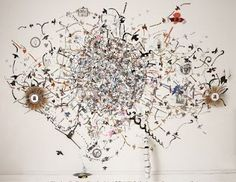 Andrea Bianconi's map of the flight paths of birds