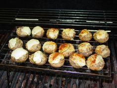 faszerowane pieczarki z grilla